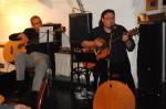 Jörg Schaub und Arne Butscher von der Gruppe ToneArt mit selbst geschriebenen Texten  und eigenen Klängen