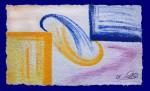 Gelbes und Blaues Fenster  (ca. 100 x 160 cm)