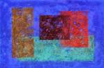 Flächen auf Blau   (54 x 79)