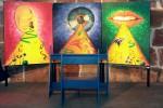 Altar der Edlen Sinne (Installation mit Meditationsbank)