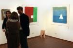 """Drei Werke von mir: Rechts: Weißes Dreieck Links: Weißes Quadrat Mitte: Hocker """"Kettensäge"""""""